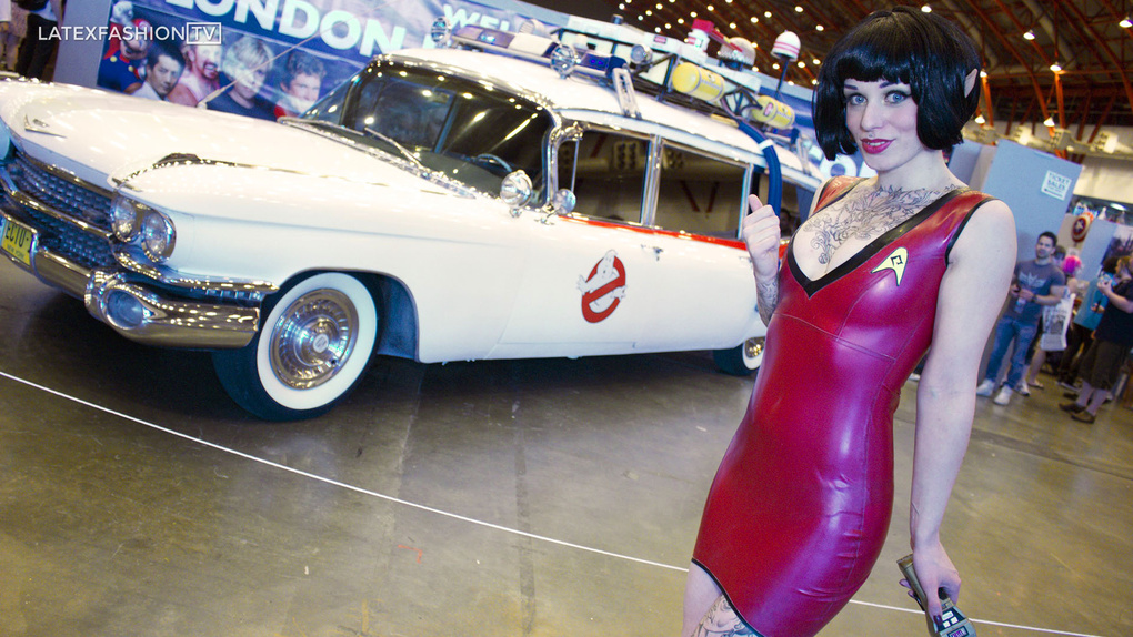 Eve Elle at Comic Con for LatexFashionTV by Cole Black