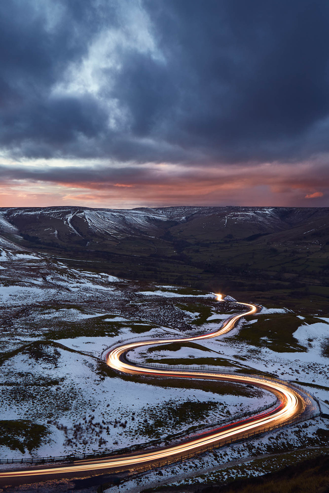 Snake road, Mam Tor UK by Tomasz Kozak
