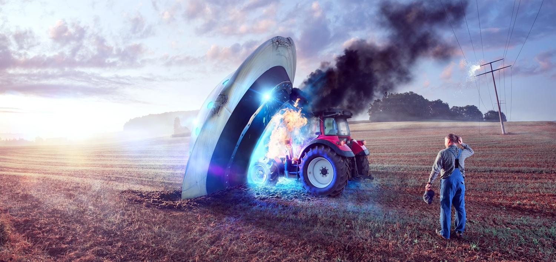 UFO Crash - Insurance by Ove Sandersen