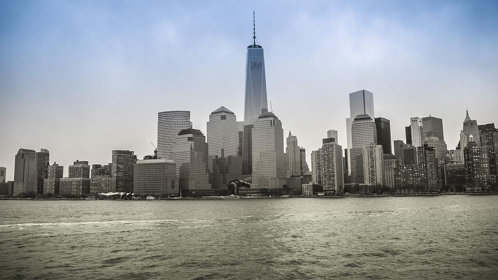 Downtown Manhattan  by Olga Kolleeny