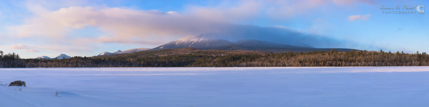 Clouds over Mt. Katahdin at Sunset by Aaron Priest