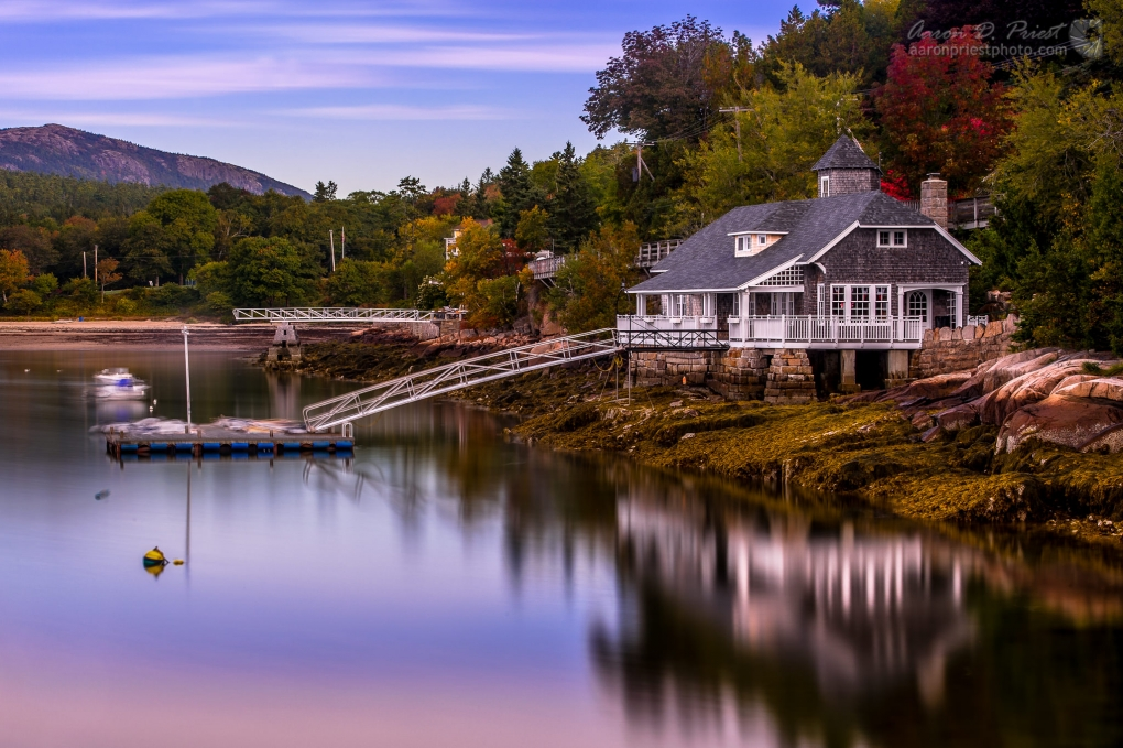 House Reflecting in Seal Harbor, Maine by Aaron Priest