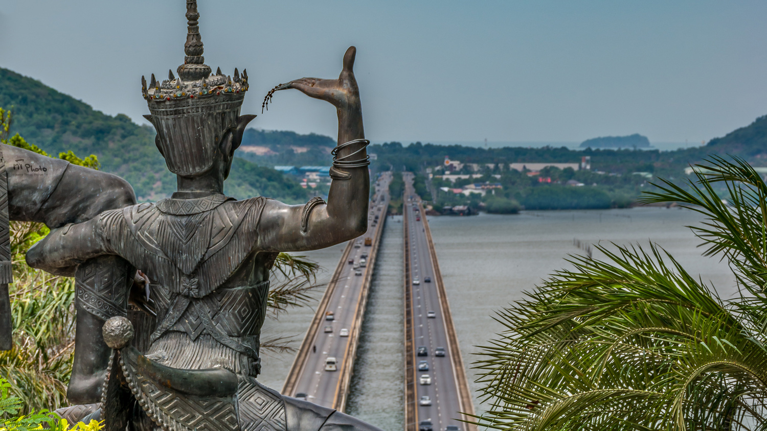 Folklore Statue protecting Bridge by Marco Tinner