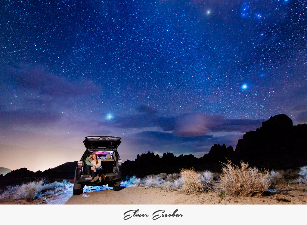 Lone Pine Engagement Session by Elmer Escobar