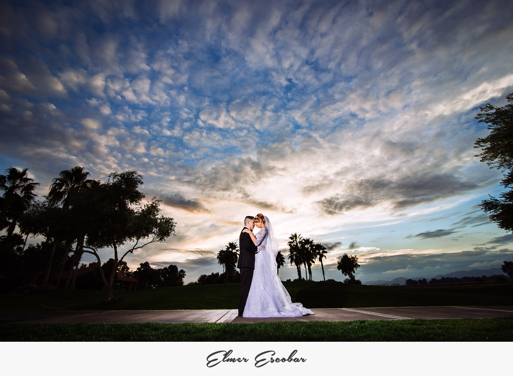 Bride and Groom Sunset by Elmer Escobar
