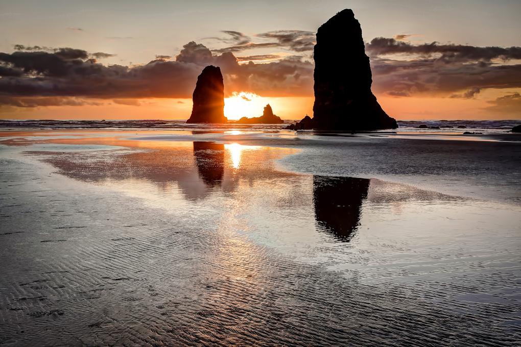 The Needles - Cannon Beach, Oregon by Steven Sturgill