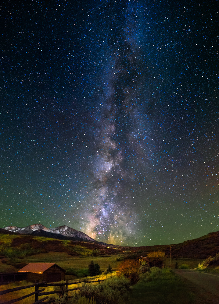 Mt. Sopris Milky Way by Jerry Patterson