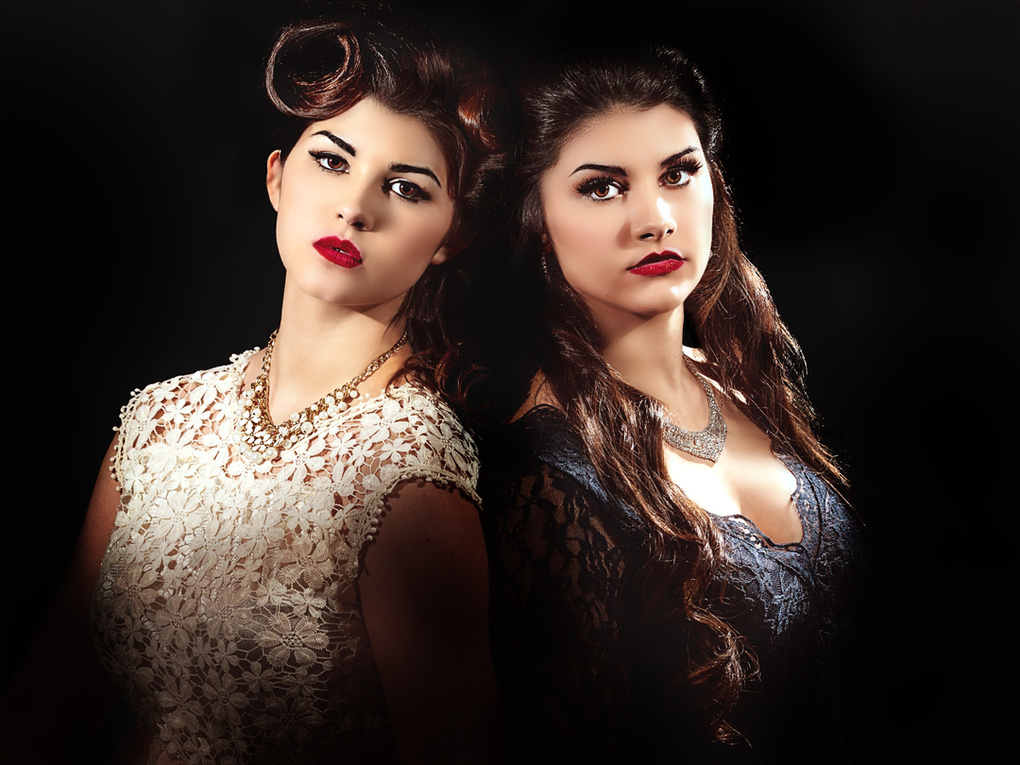 Sisters get glammed up by Chad Roberge