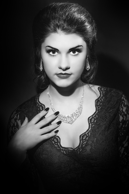 Jess in Old Hollywood Glamour by Chad Roberge