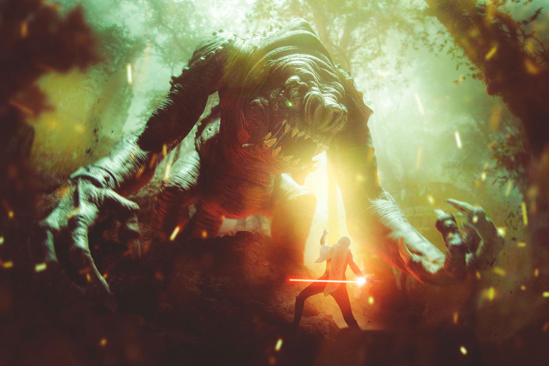 STAR WARS - Rancor Attack by Josiah Moore