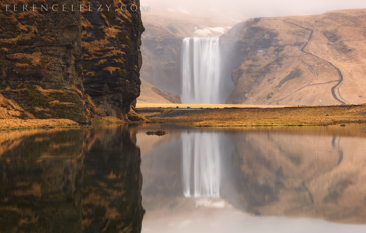 Skógafoss Reflections by Terence Leezy