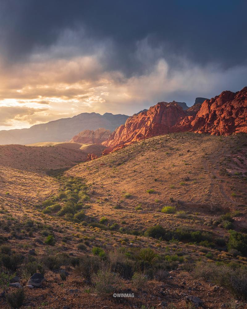 Red Rock Sunset by Win Mag