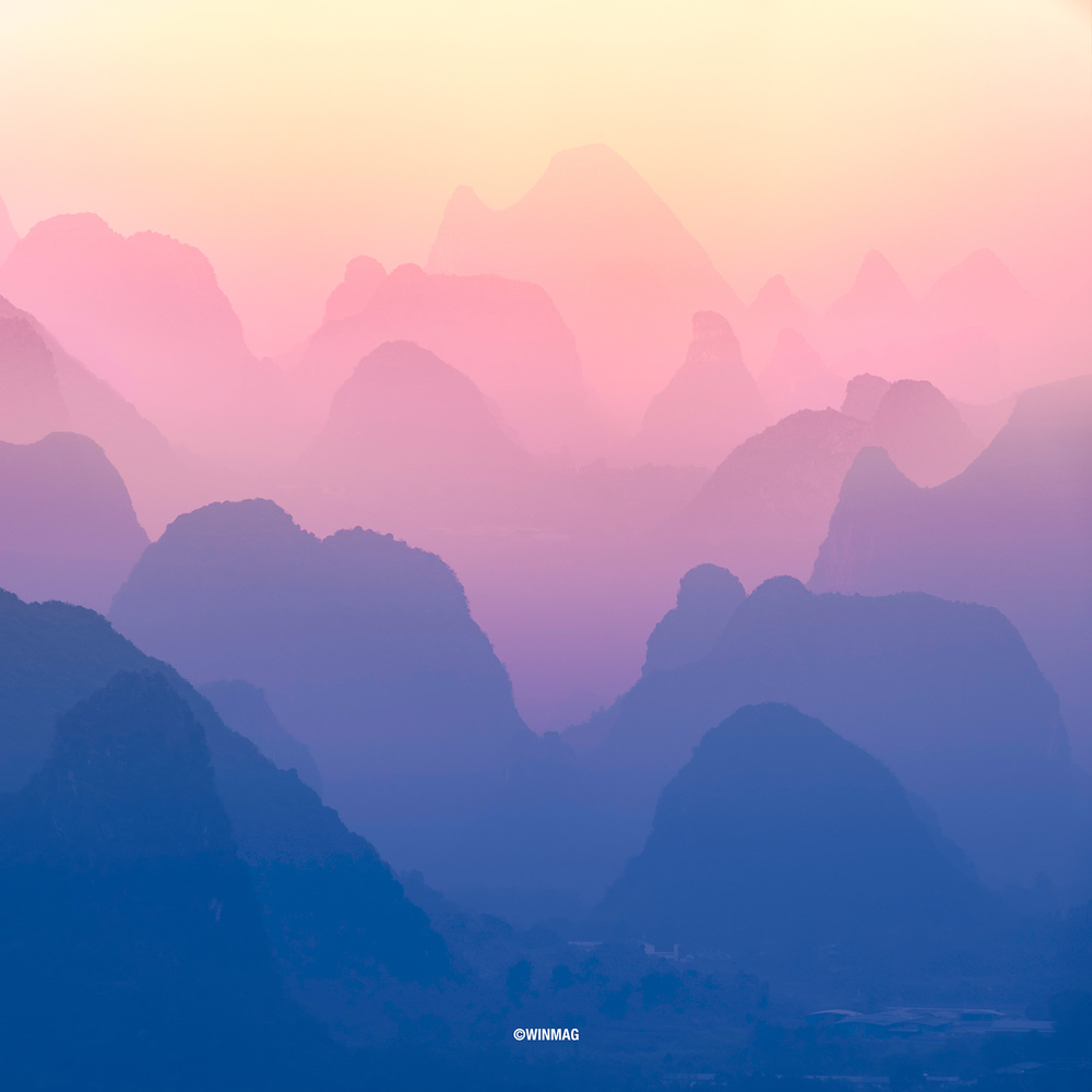 Guilin Misty Peaks by Win Mag