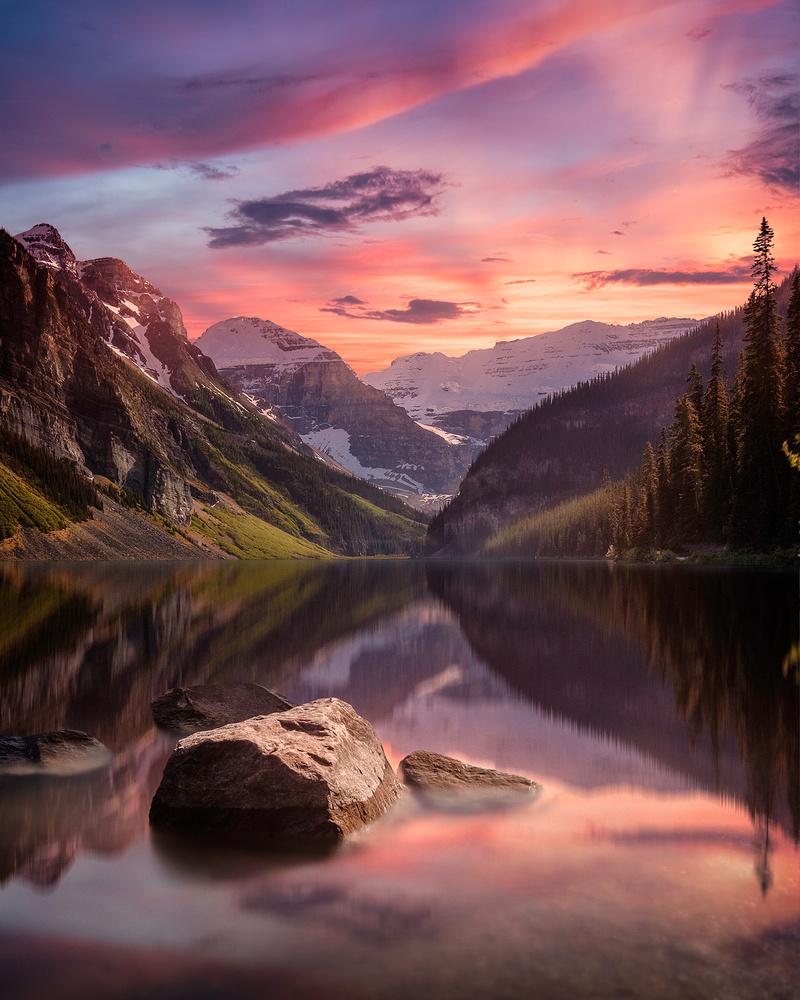 Memories of Lake Louise by Win Mag
