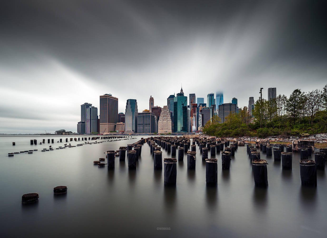 Pylons of Brooklyn by Win Mag