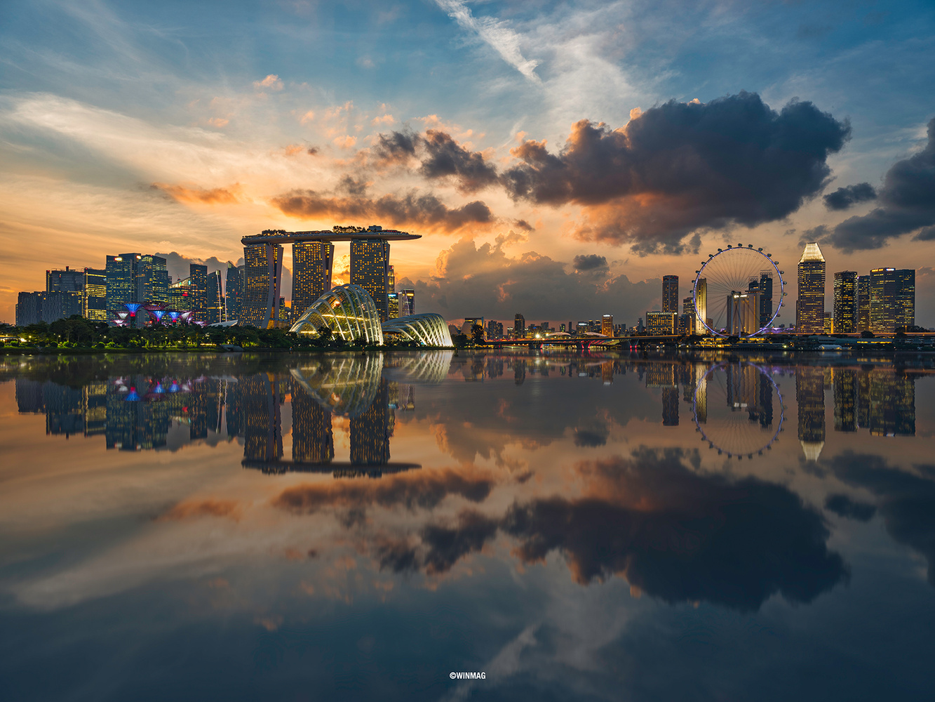 Singapore Golden Hour by Sherwin Magsino