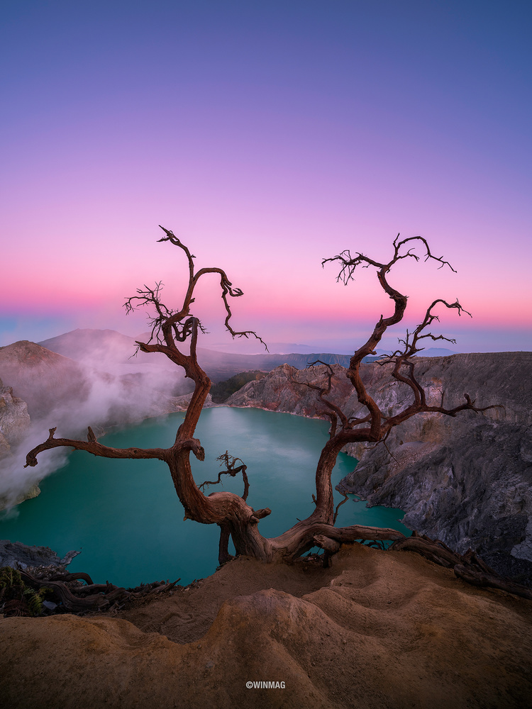 Ijen Sunrise by Win Mag