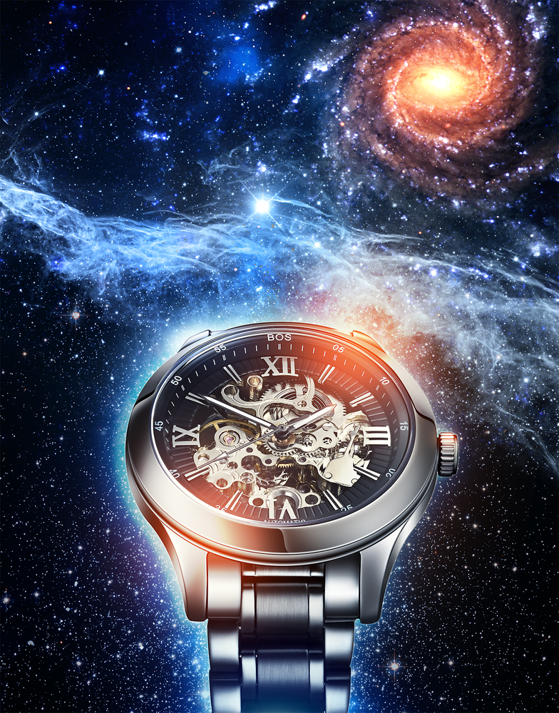 Skeleton Watch in Deep Space by Roman Sapronov