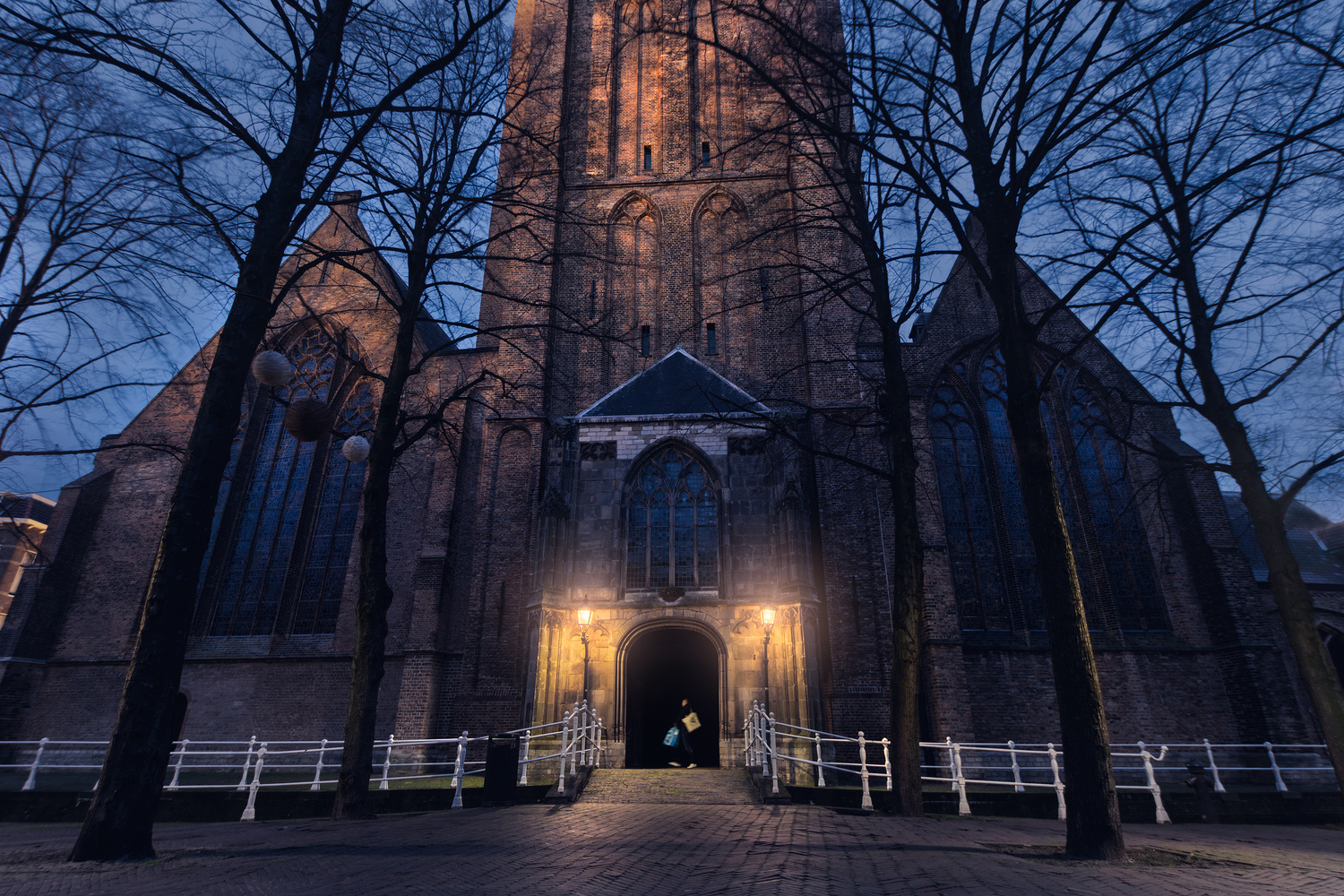 Blue hour Church in Delft by Patrick Snitjer