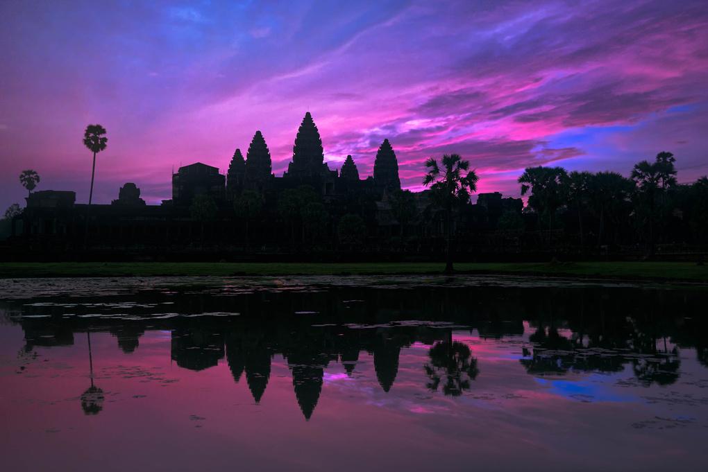 Angkor Wat Sunrise by Cesar A Mendez Garcia