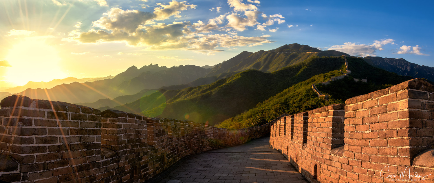 The Great Wall of China by Cesar A Mendez Garcia