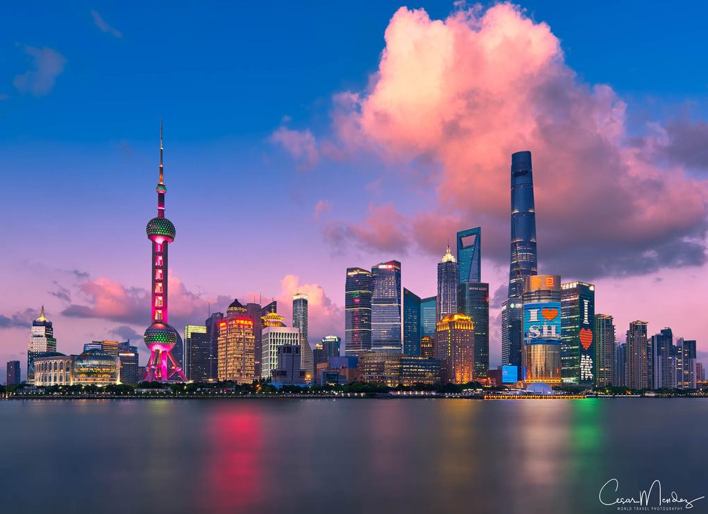 Good evening Shanghai by Cesar A Mendez Garcia