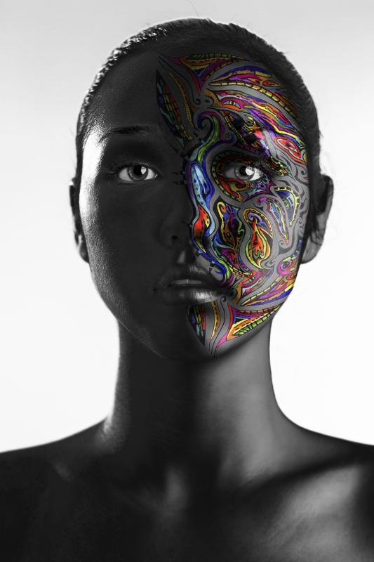 Portrait Intervention 1 by Felipe Zabala