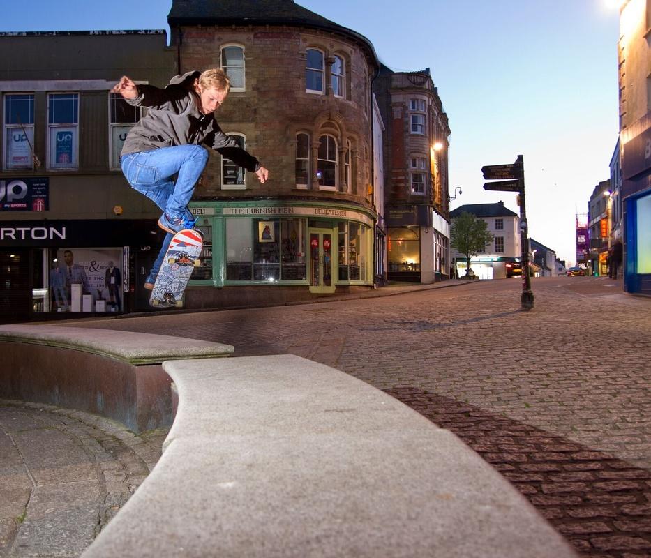 Bigspin Skateboards shoot - Penzance, Cornwall, UK  by Murray Golder