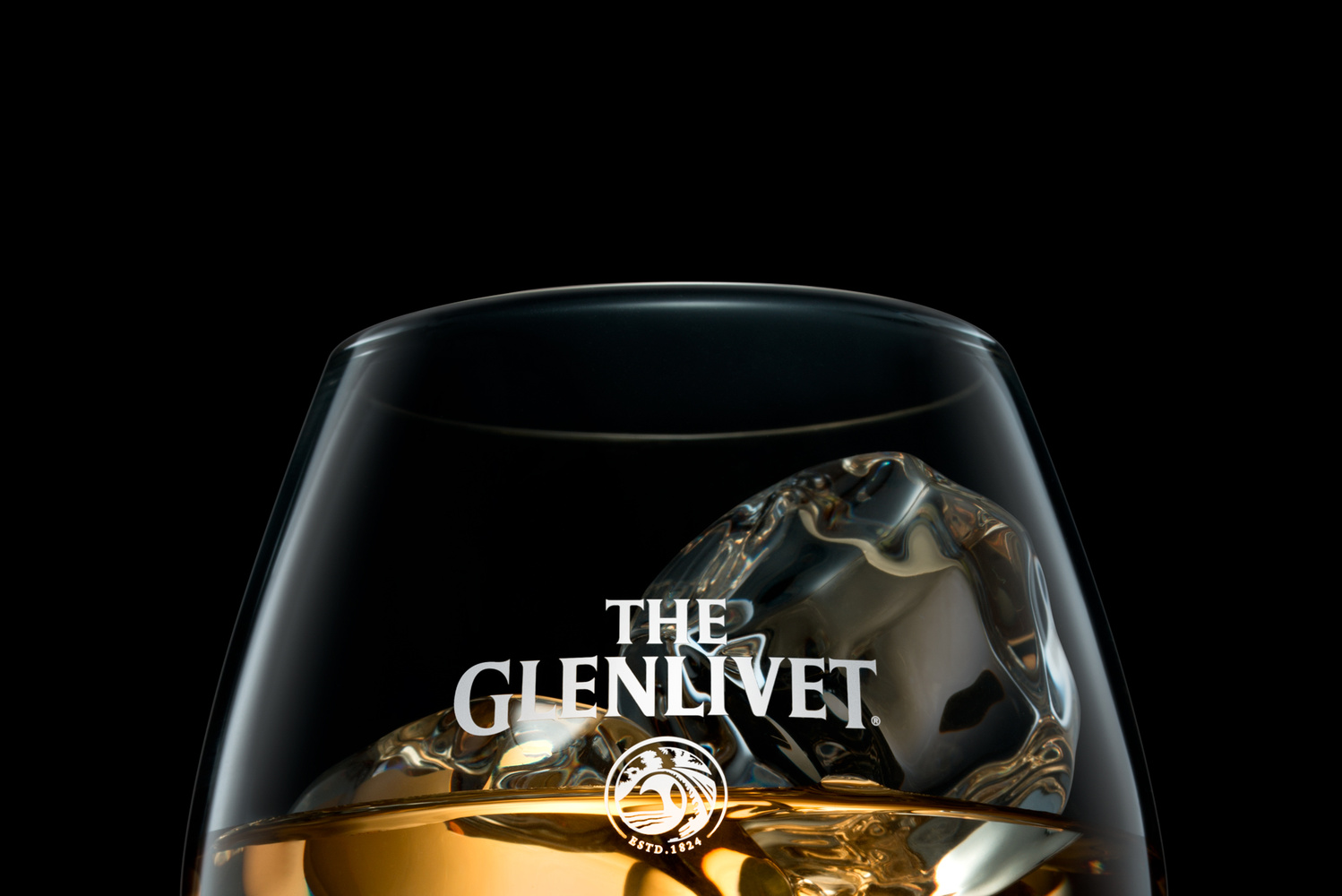 The Glenlivet whisky on the rocks! by Piotr Maksymowicz
