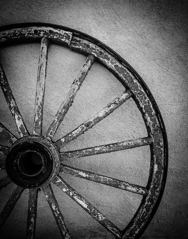 Wagon Wheel and Adobe by Carl Chick