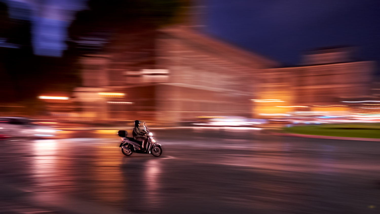 Panning in Rome by Marcel Rapuano