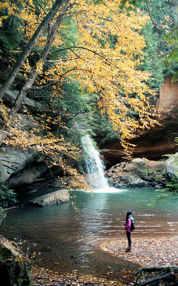 Hocking Hills in Autumn - Portra 400 by James Madison