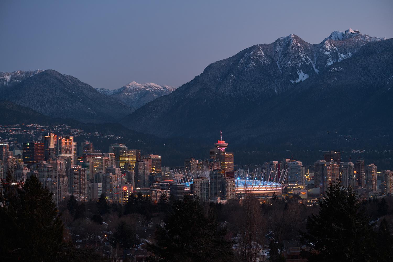 Vancouver at Sunrise by James Stevenson