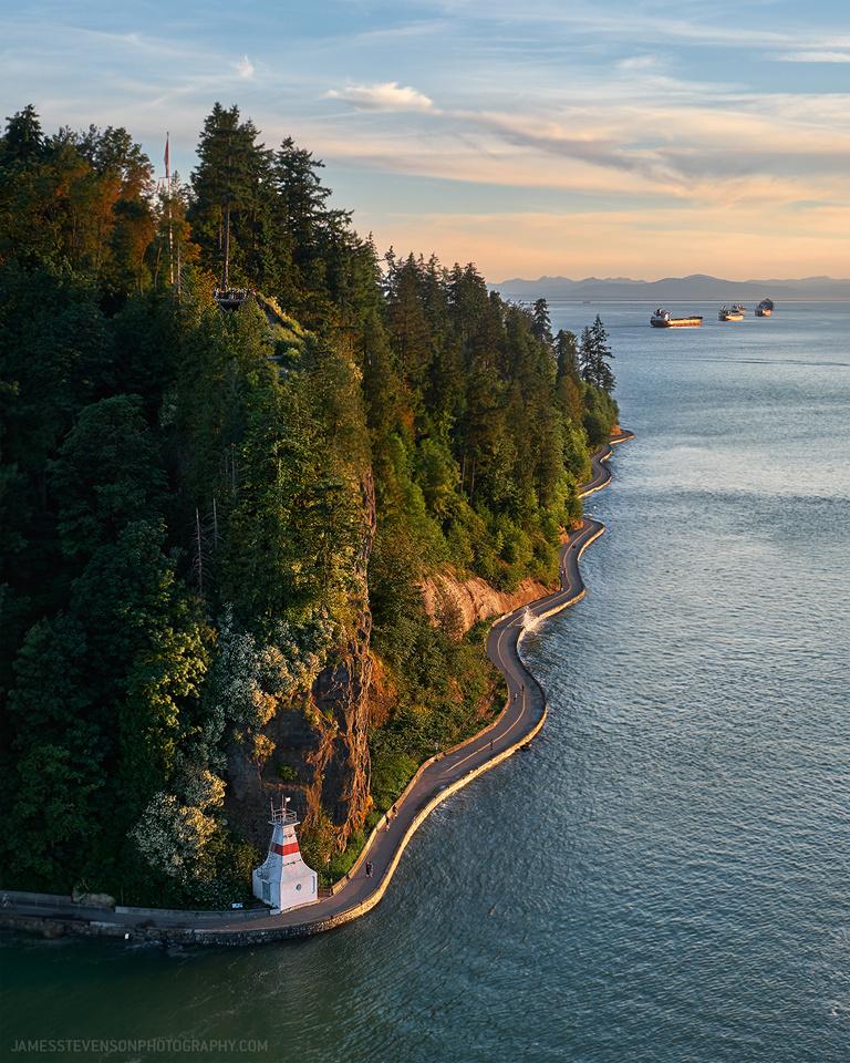 Stanley Park Sea Wall, Vancouver by James Stevenson