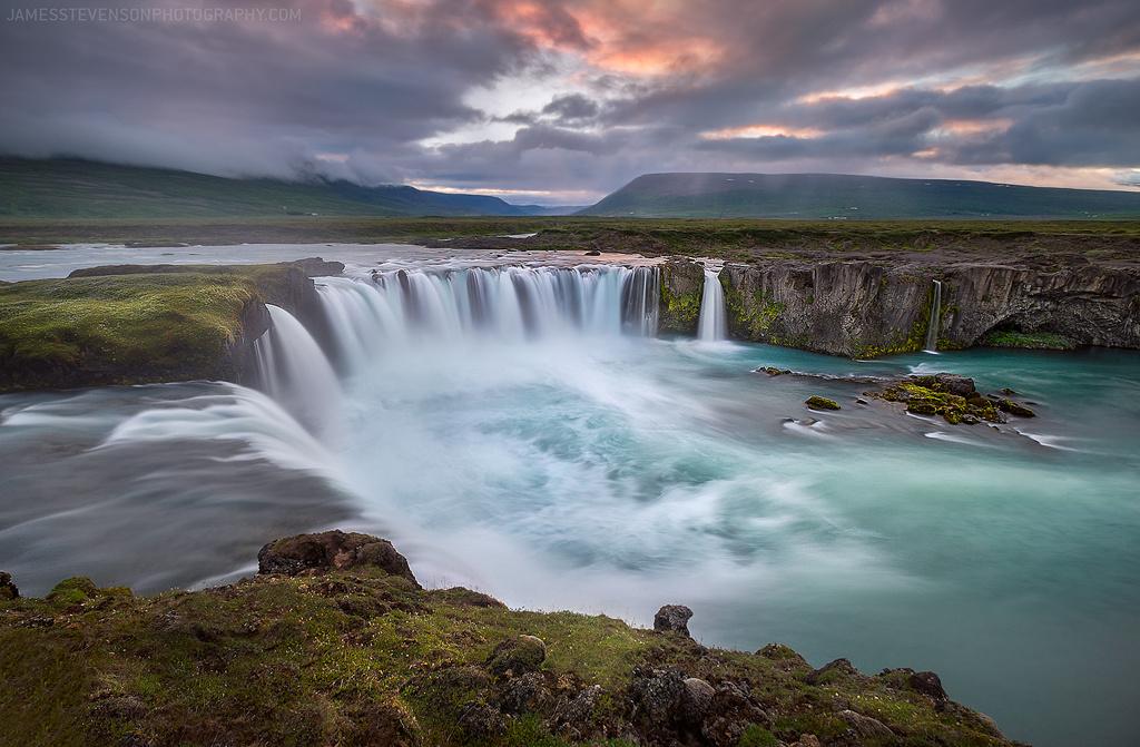Godafoss falls, Iceland by James Stevenson