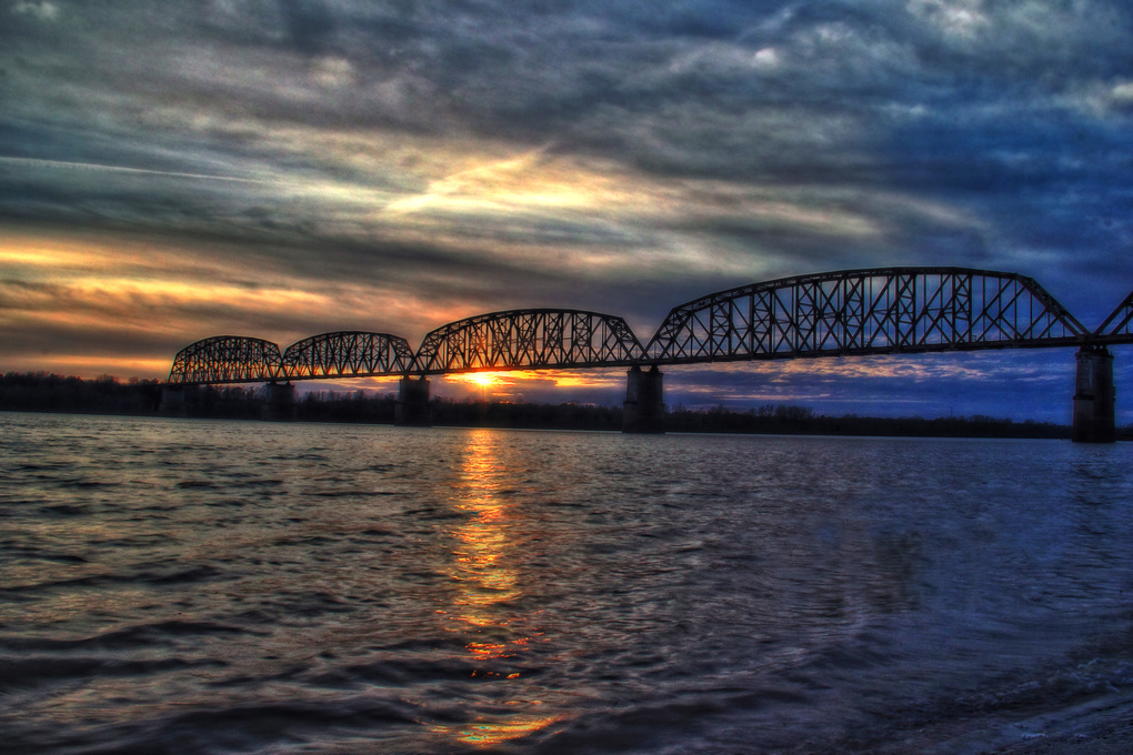 Ohio River Sunset by Greg Strong