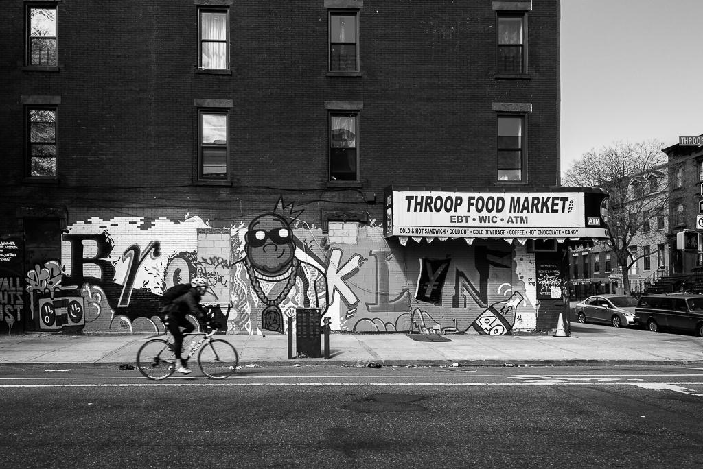 Brooklyn cyclist by Michael Kuszla