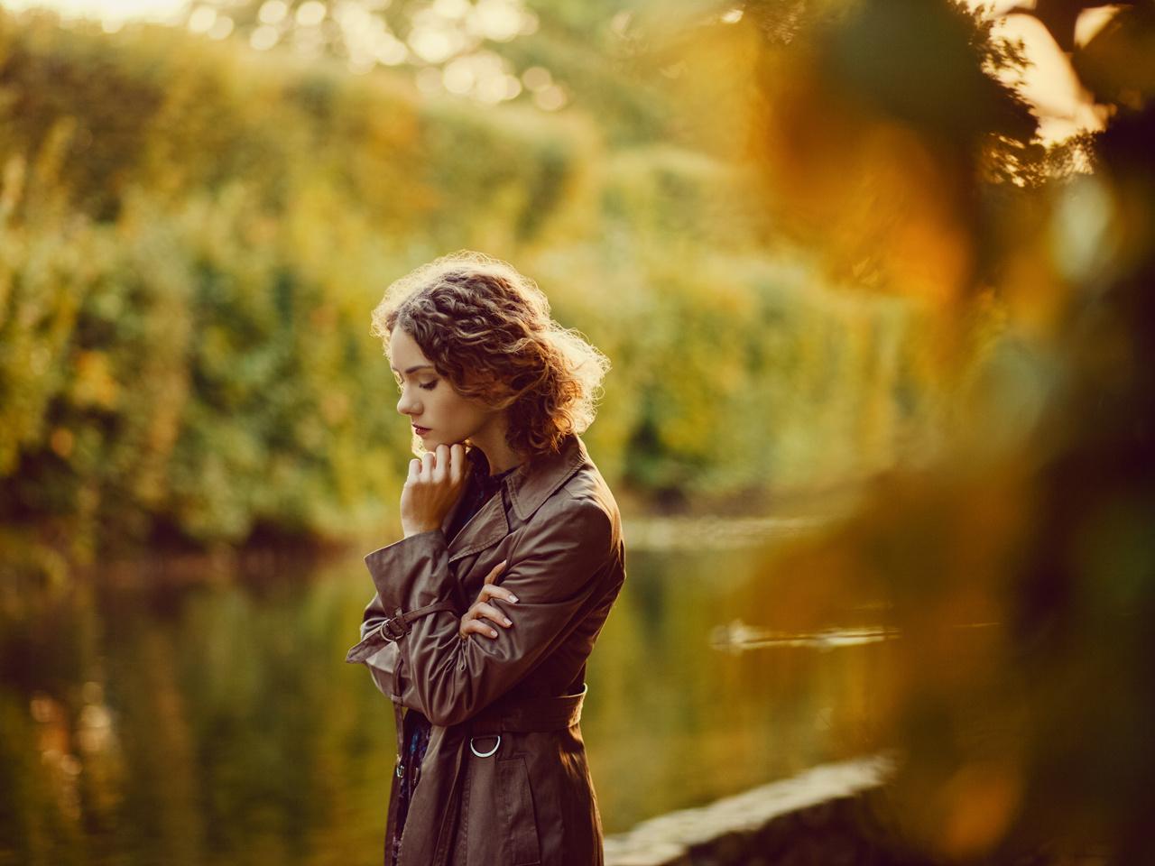 Autumn thoughts.III by Stanislaw Siedlecki