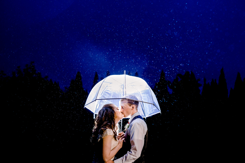 Rain Wedding Portrait by Paul Seiler