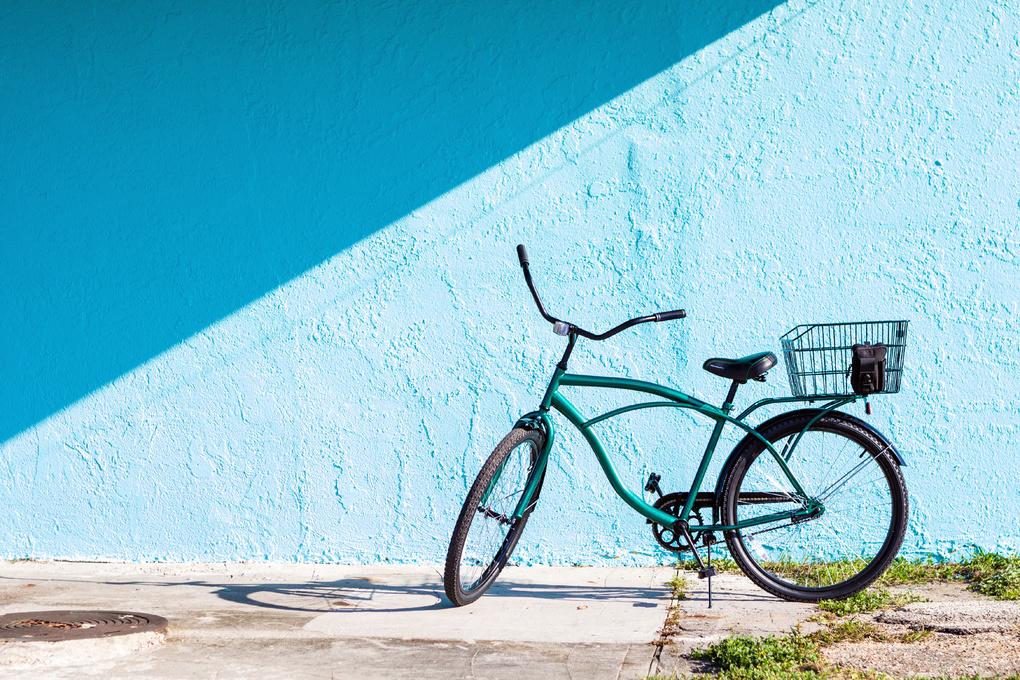Blue Behind Bicycle by Jack Lawrence