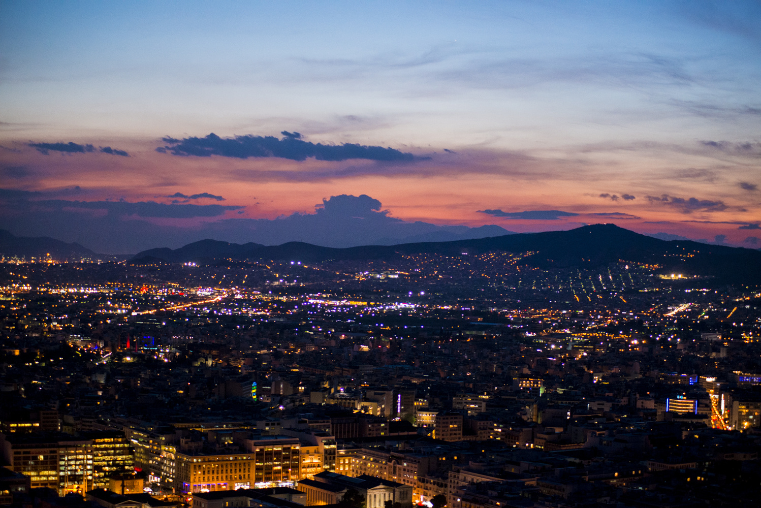 Cityscape - View from Lycabettus Hill by George Stergiopoulos