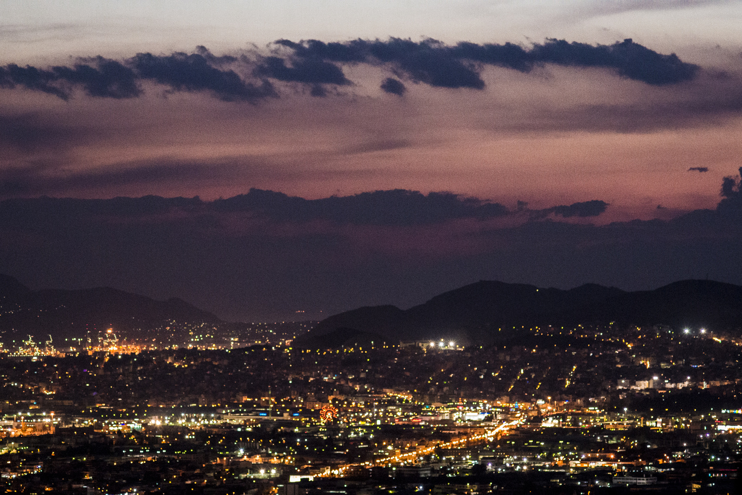City Lights - View from Lycabettus Hill - Greece by George Stergiopoulos