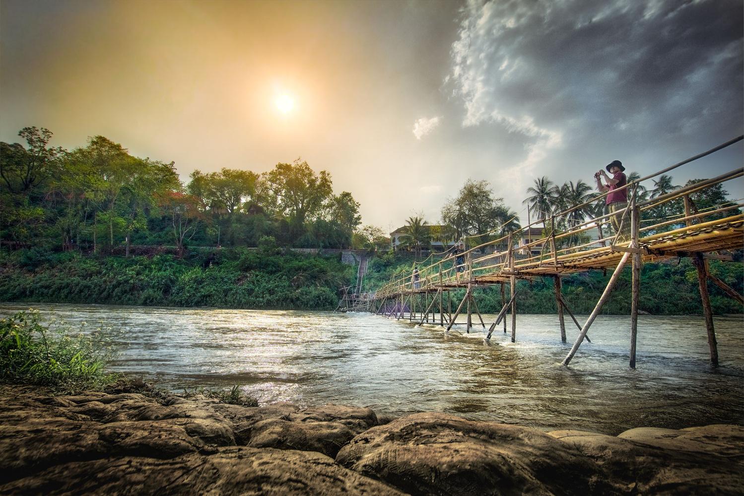 Nam Kahn Bamboo Bridge by Keir Briscoe