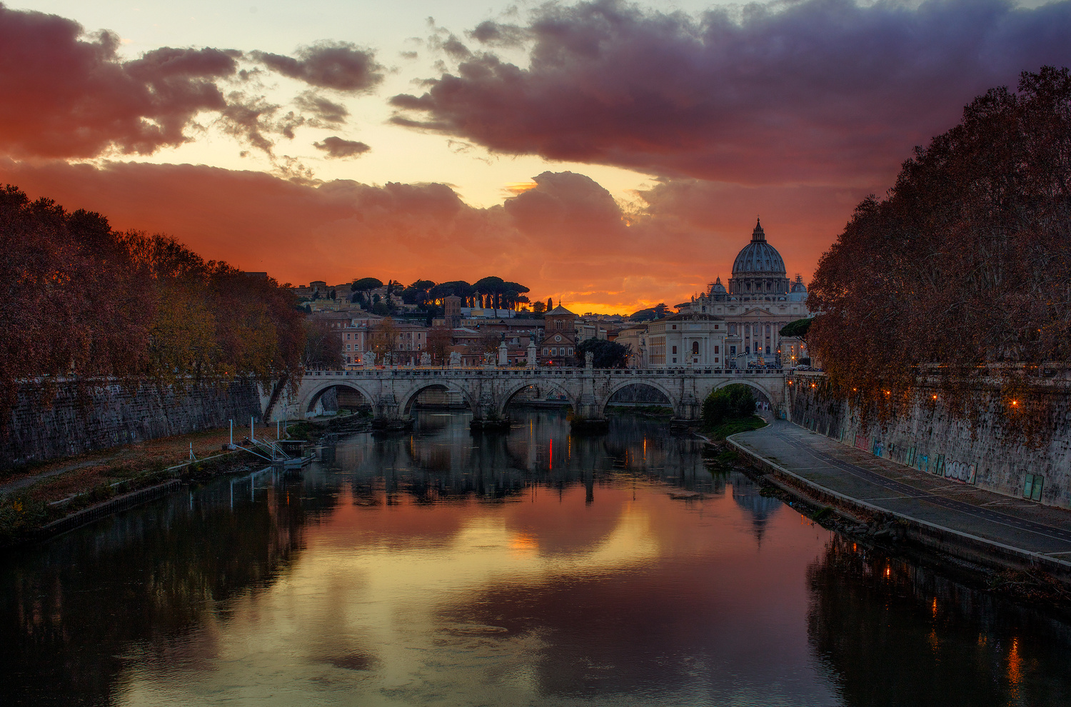 Fires Above Rome by Brian Ho