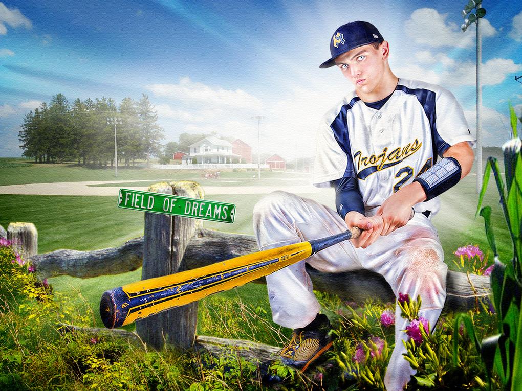 Baseball Field of Dreams by clifford yates