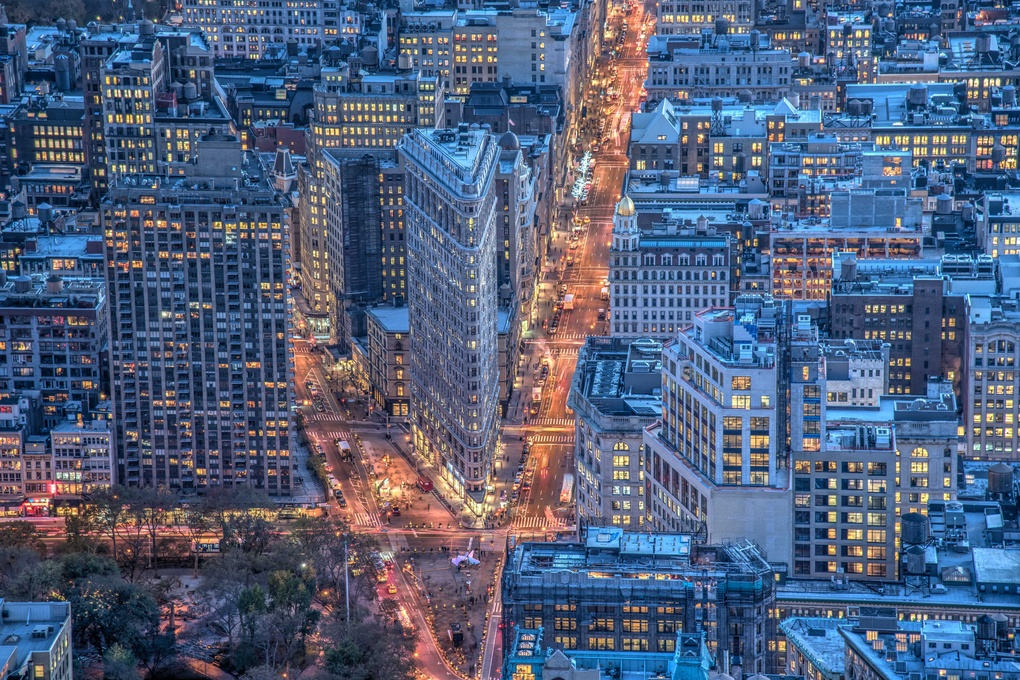 Flat Iron from above by Paolo Piccoli