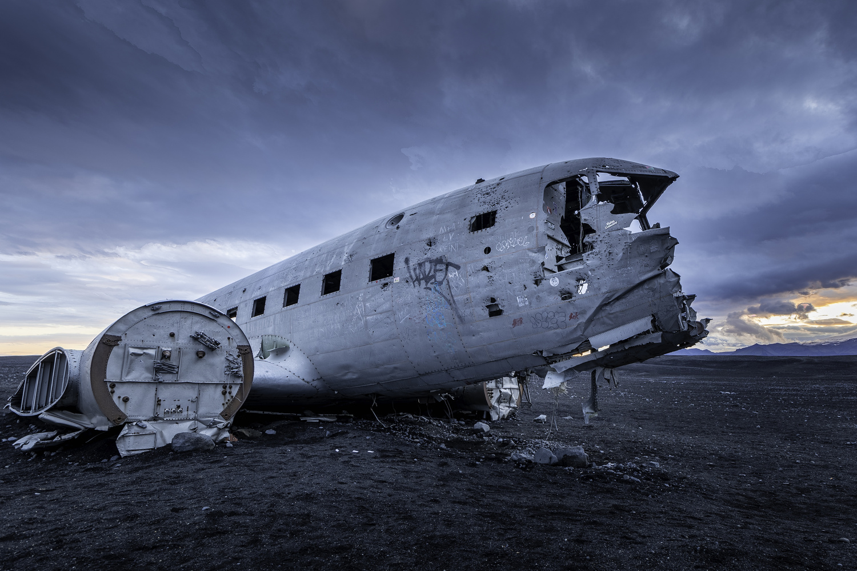 Plane Crash Iceland by Osbel Morell