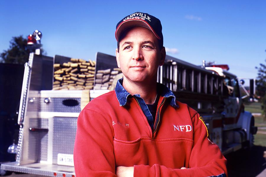 Nashville Firefighter by Tony Clark