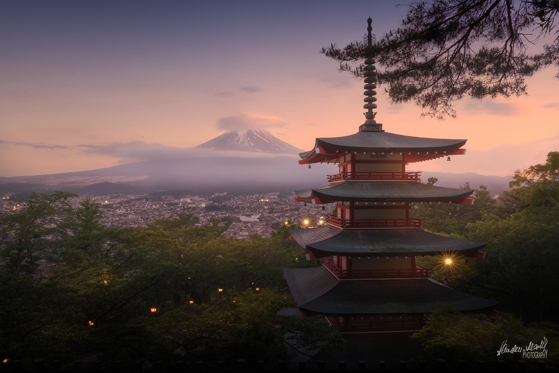 Mount Fuji at Sunset by SANDEEP MATHUR