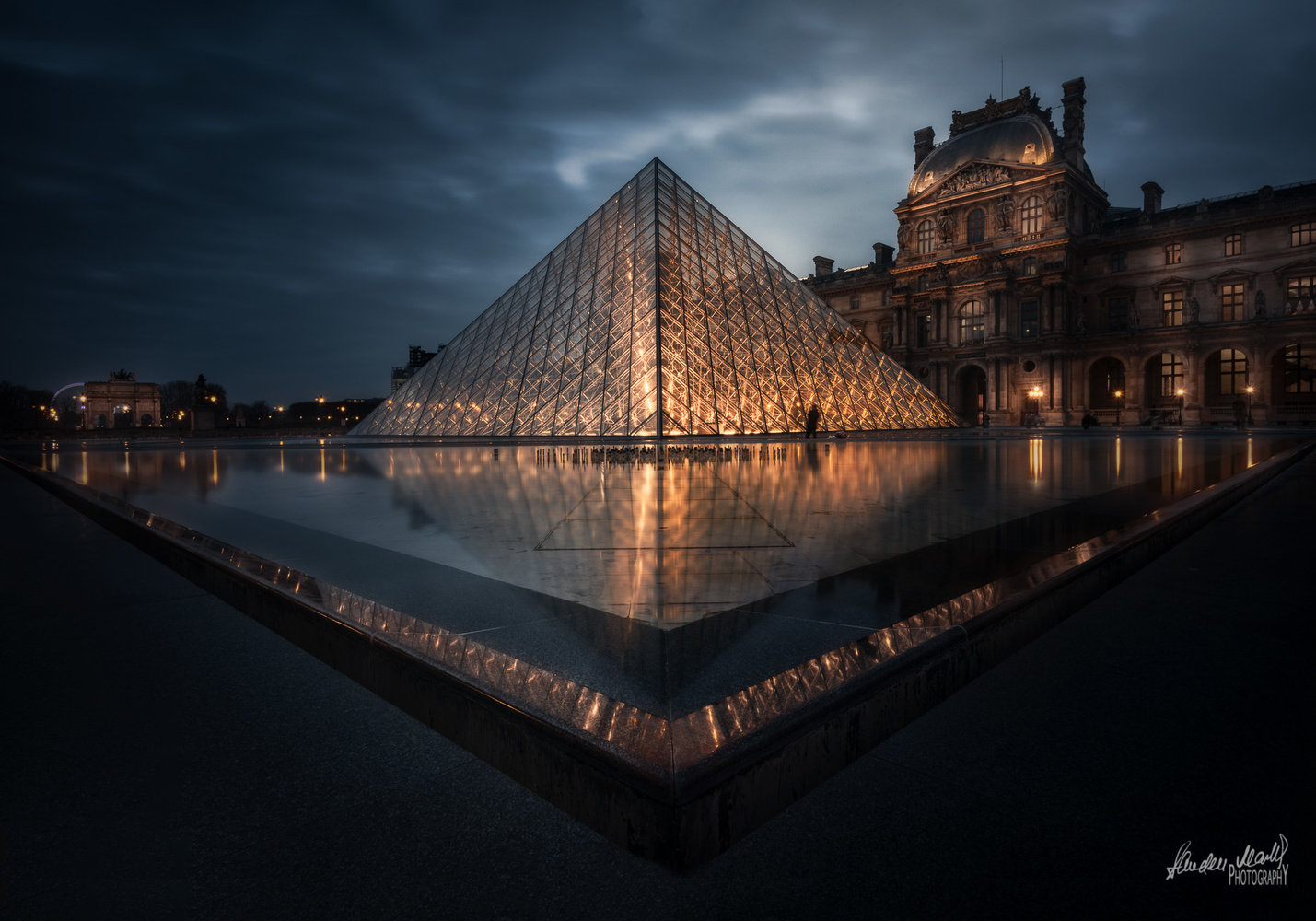 Louvre at Twilight ! by SANDEEP MATHUR